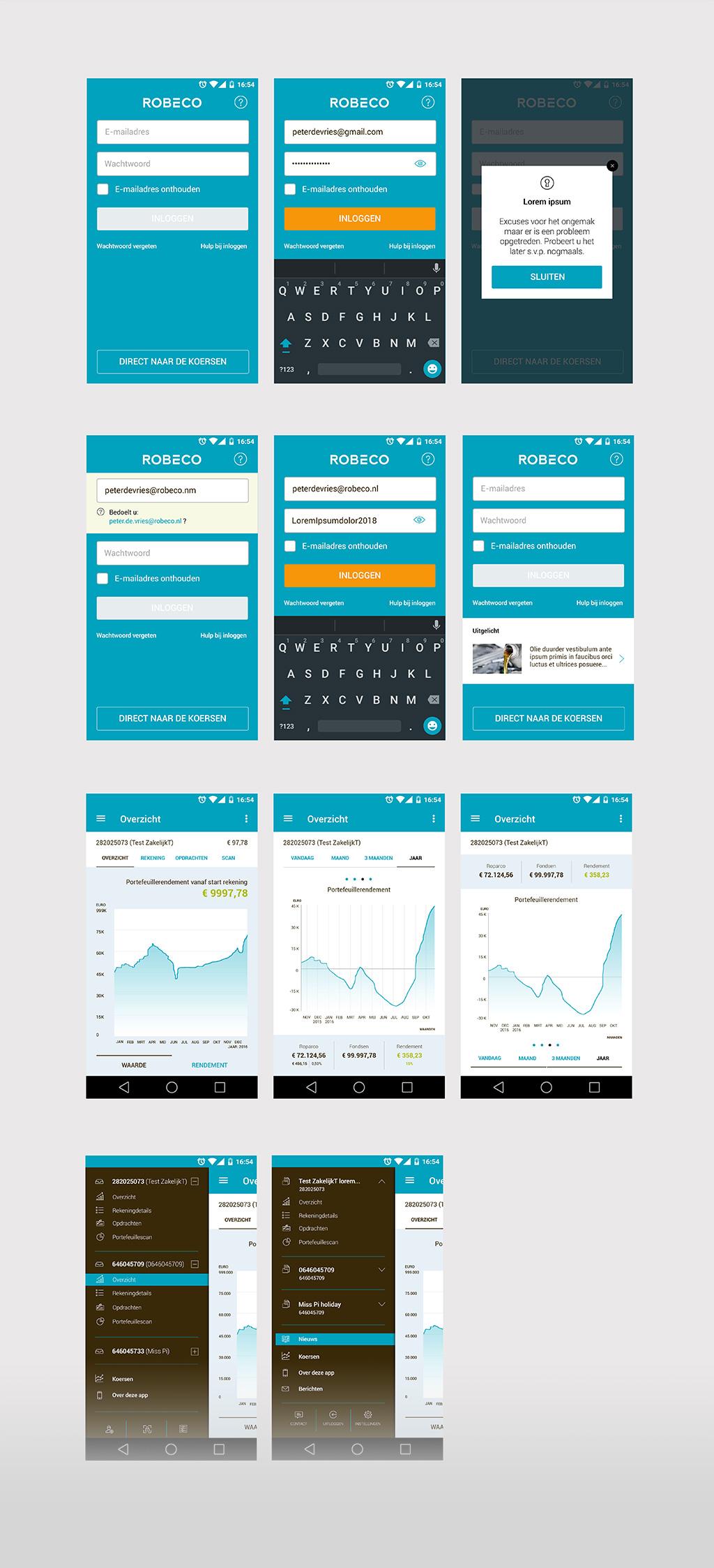 Afbeelding 2 van 6 - Re-design Android mobiele app - Robeco web + mobile app optimalisaties