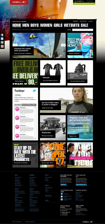 Afbeelding 3 van 7 - O'Neill global webshop re-design - Homepage en algehele stijl variant 3