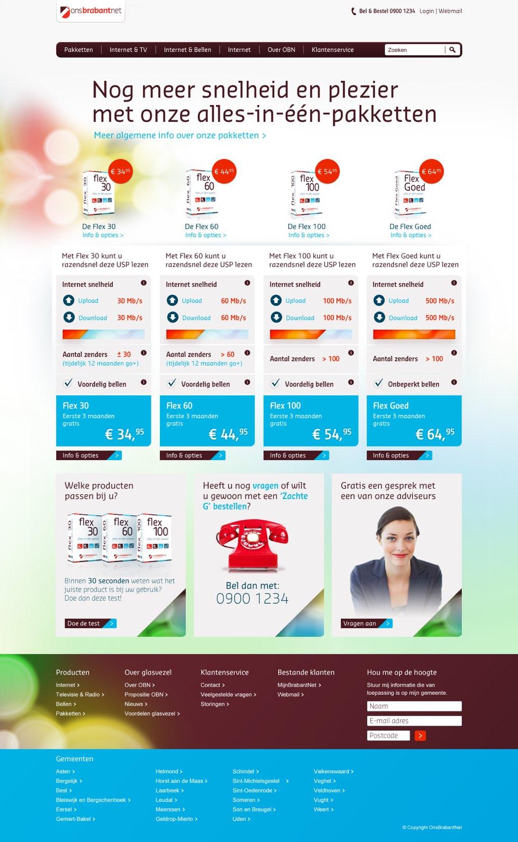 Afbeelding 3 van 11 - OnsBrabantNet re-design webshop - De oude Product Categorie Overzicht pagina