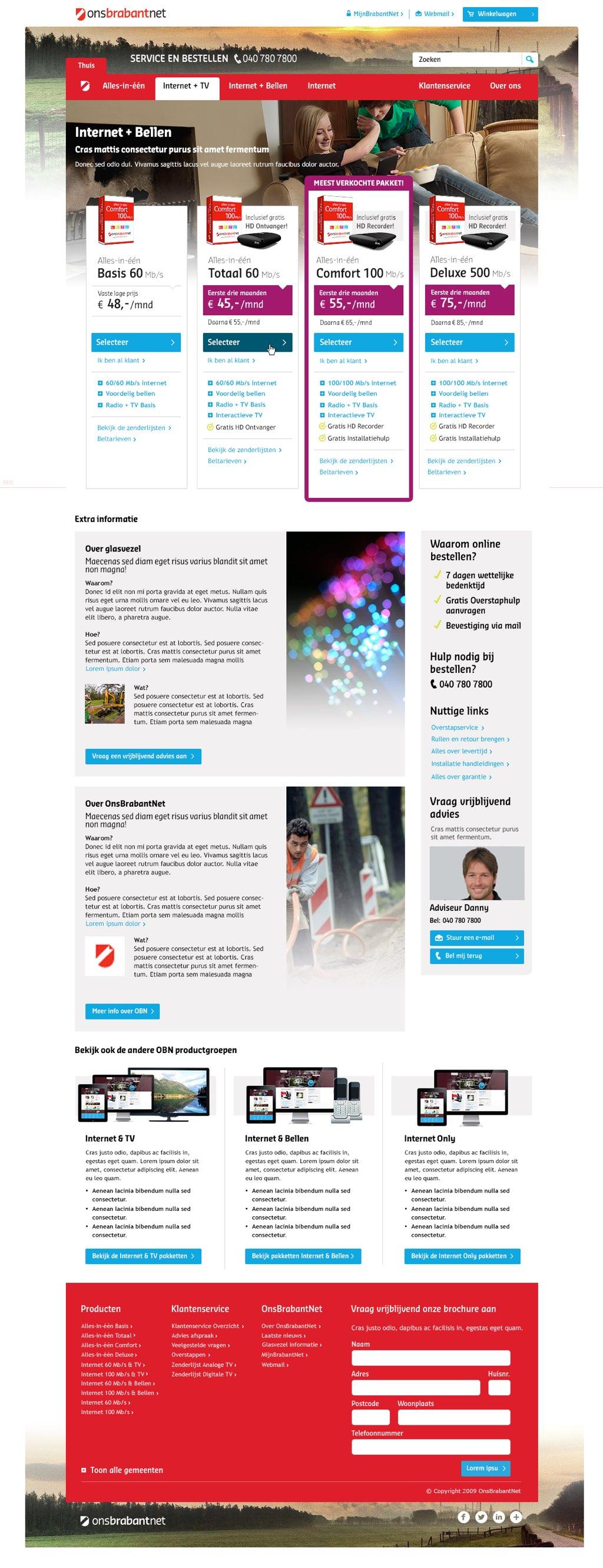 Afbeelding 7 van 11 - OnsBrabantNet re-design webshop - Nieuwe Product Categorie pagina