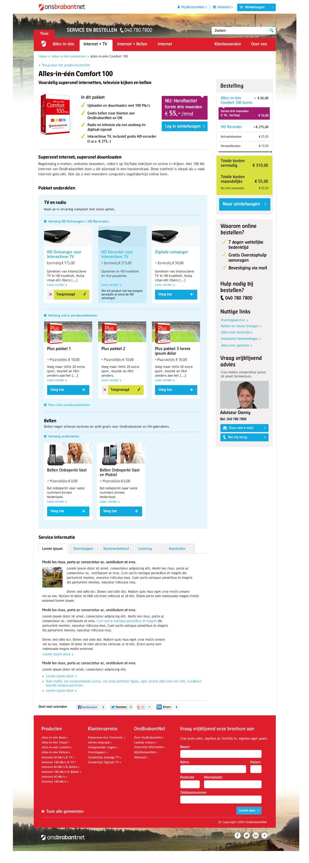 Afbeelding 8 van 11 - OnsBrabantNet re-design webshop - Nieuwe Product Detail pagina