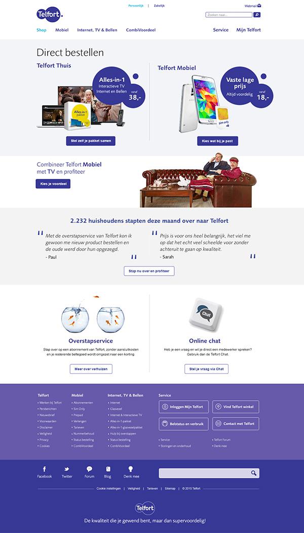 Afbeelding 2 van 4 - Telfort webshop pagina's re-design - Telfort Thuis en Telfort Mobiel