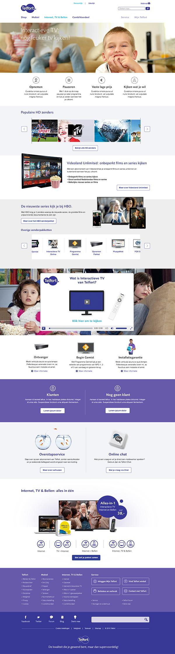 Afbeelding 3 van 4 - Telfort webshop pagina's re-design - Interactieve TV van Telfort