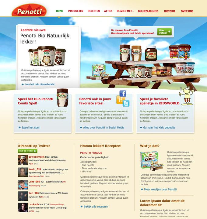 Afbeelding 3 van 3 - Re-design Duo Penotti promotie website Penotti.nl - in opdracht van reclamebureau Superrebel - 3