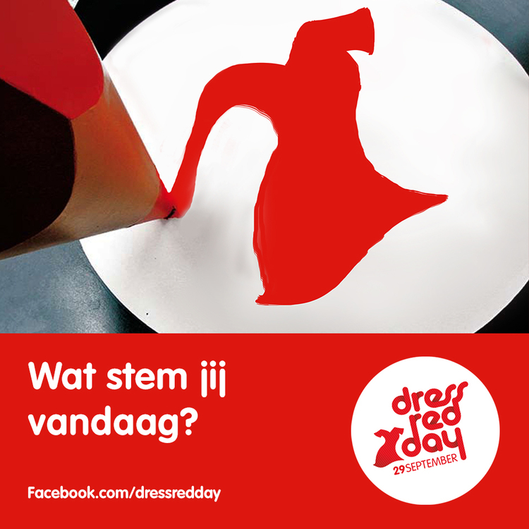 Afbeelding 4 van 6 - Hartstichting / Dress Red Day Social Media inhakers - Inhaker Facebook post 'Verkiezingen'
