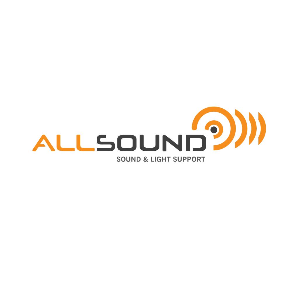 Logo ontwerp Allsound Sound & Light Support