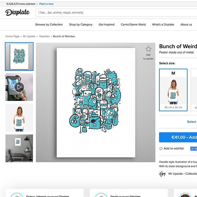 The limited edition MrUpside prints are now unlimited available as a metal print on @displate! Check displate.com/mrupside for the plates and designs. . A Displate is a magnet-mounted metal print. It's durable, it's steel. And you don't need any power tools to hang it. They come in three sizes (M, L and XL). . And aside from the aesthetic roots, they're also involved in helping to improve global enviroment. With every Displate sold they plant 10 trees in the places that need them most and help communities alleviate poverty, arouse positive social change and improve both local and global enviroments. . Check it out at Displate.com/mrupside! Delivery within 3 to 4 business days. . And check the link in bio for the luxury, limited edition art prints on webshop MrUpside.com. . . . #displate #displates #print #creative #illustration #interior #metal #interiordesign #doodle #doodles #Dutch #webshop #luxury #styling #interieur #interieurstyling #inspiration #weird #illustratie #illustrator #ipadpro #digitalart  #art #Voorburg