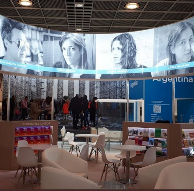 Update! The Argentinian stand at the Frankfurt Book Fair, via  @veragiaconi