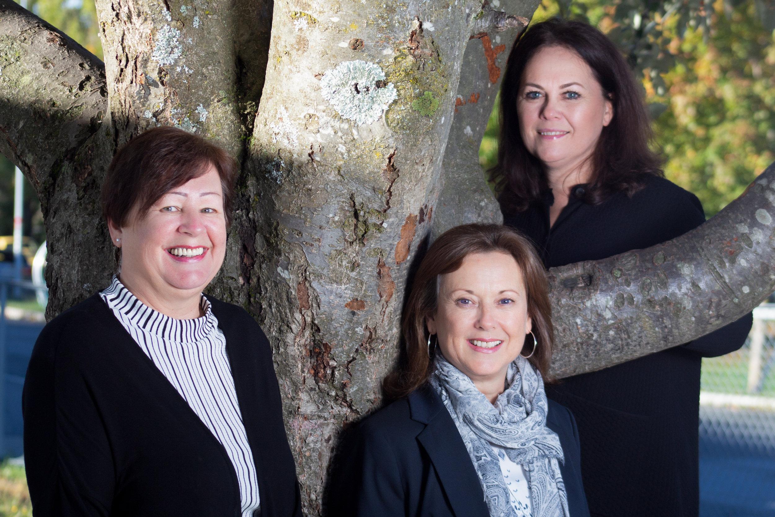 Our welcoming reception team: Lorine Stoltenberg, Christine Normann, & Kari Anne Munro