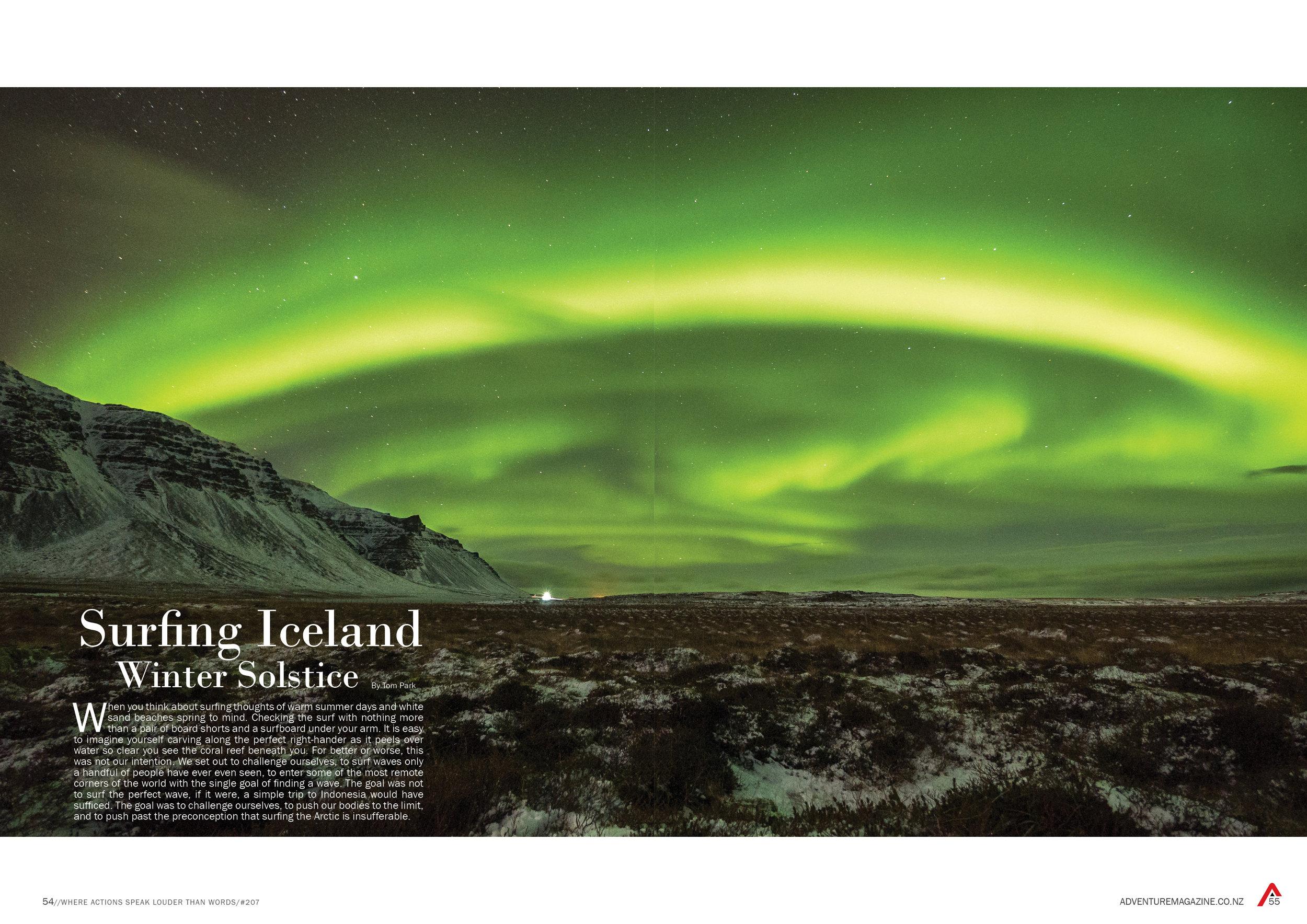 Publication in Adventure Magazine.