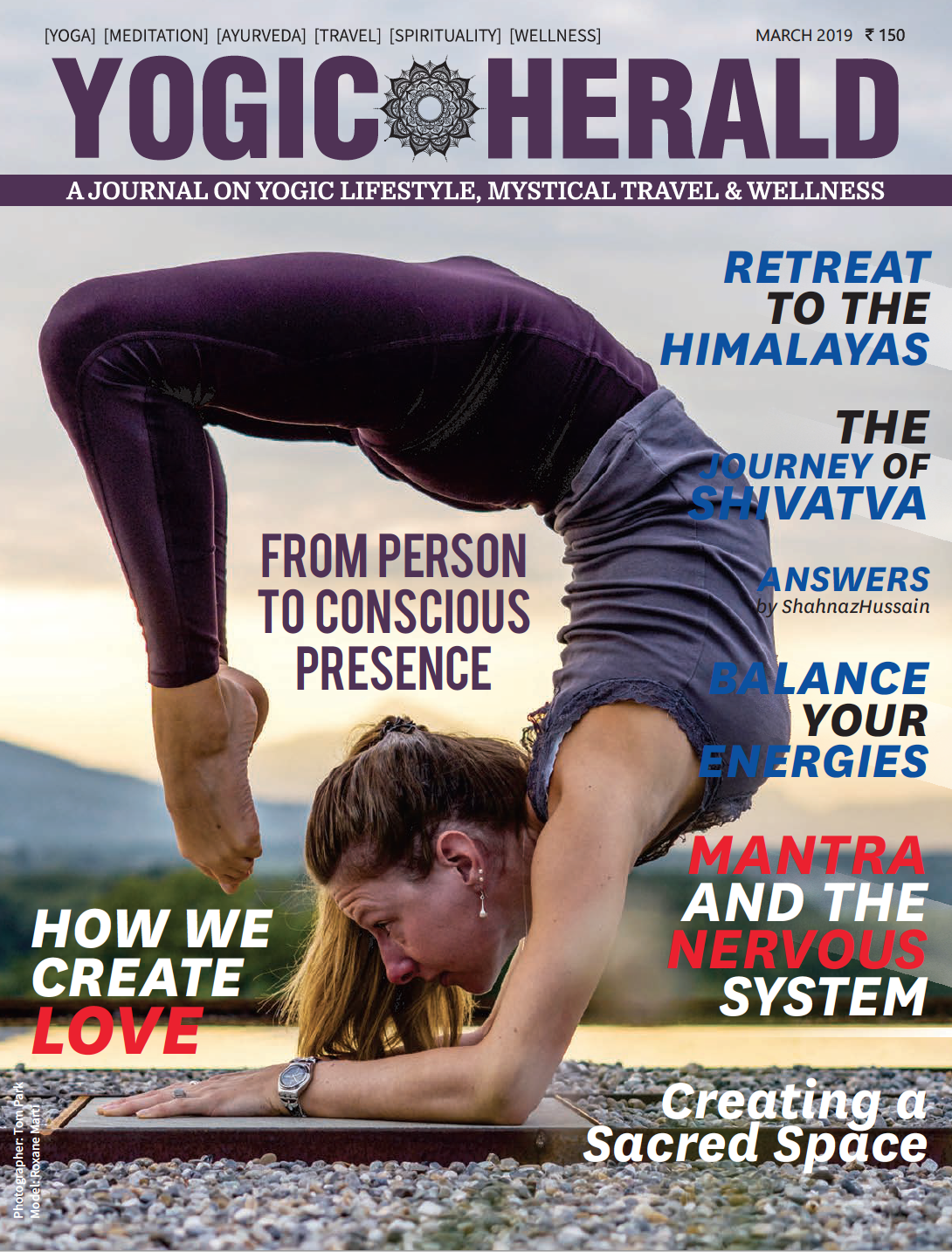 Published on the Front Cover of Yogic Herald - March 2019