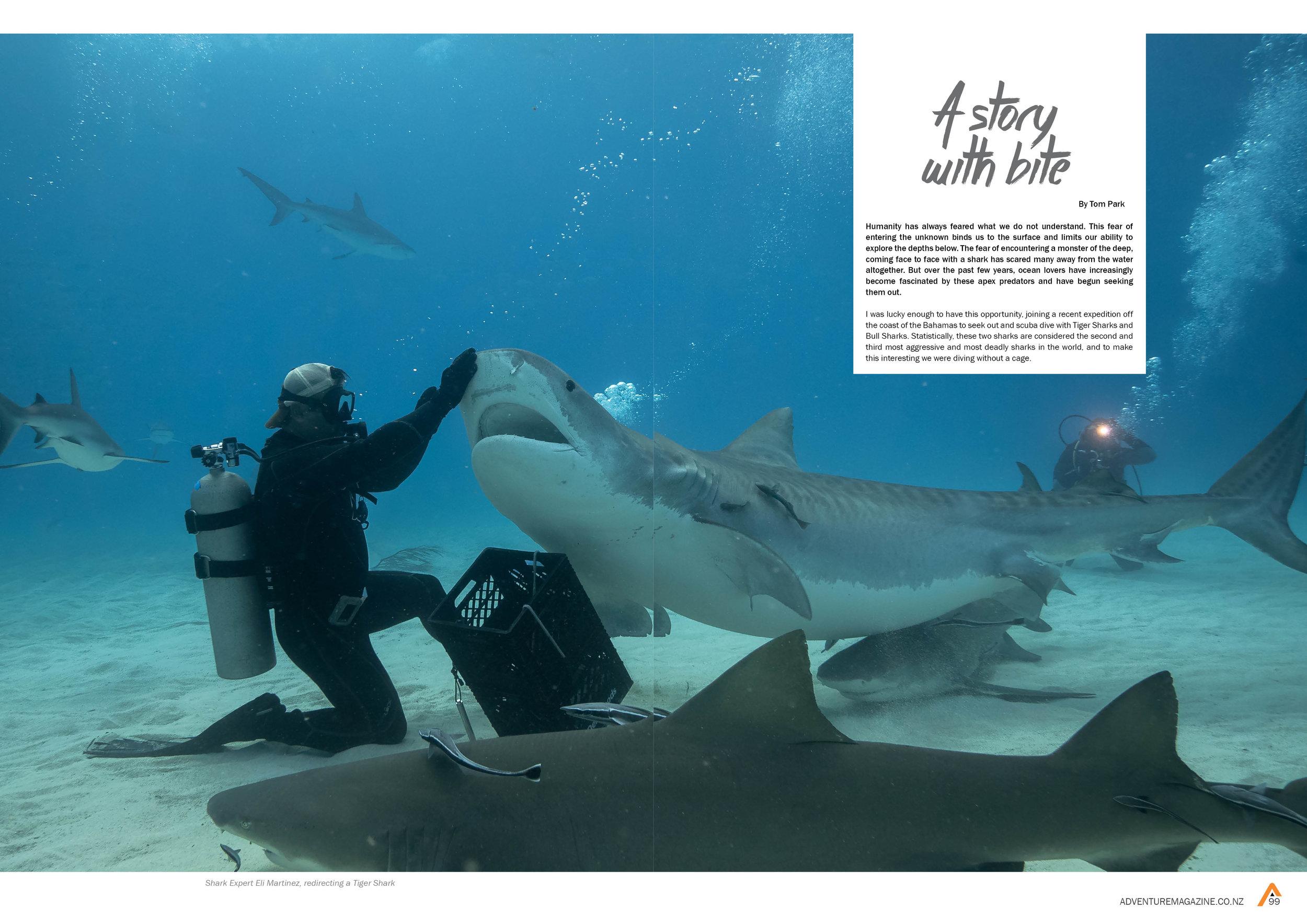 Publication in Adventure Magazine - Ocean Edition