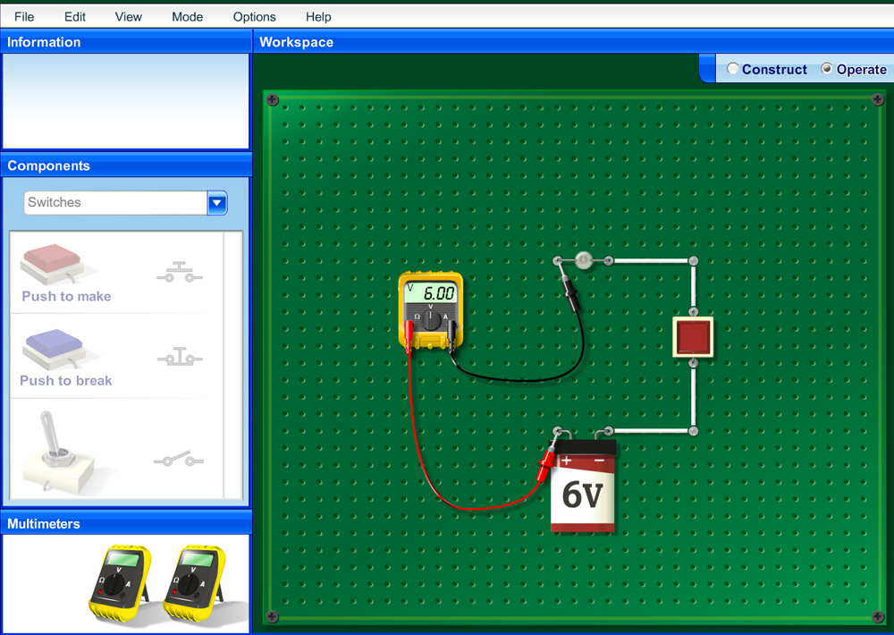 Science Software - Electical Circuits Simulator