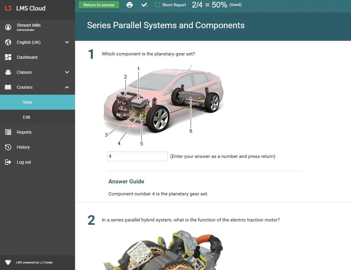 Hybrid Vehicle Lessons - Assessment Quiz