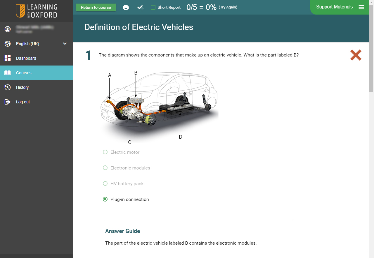 Hybrid Vehicle Software - Assessment Quiz