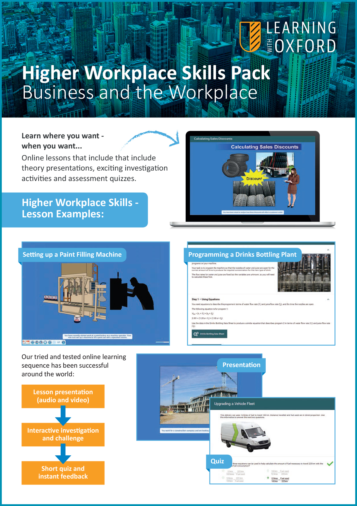 What lesson topics are covered with the licence? - Take a look at our Higher Workplace Skills InfoSheet to see a full topic listing.