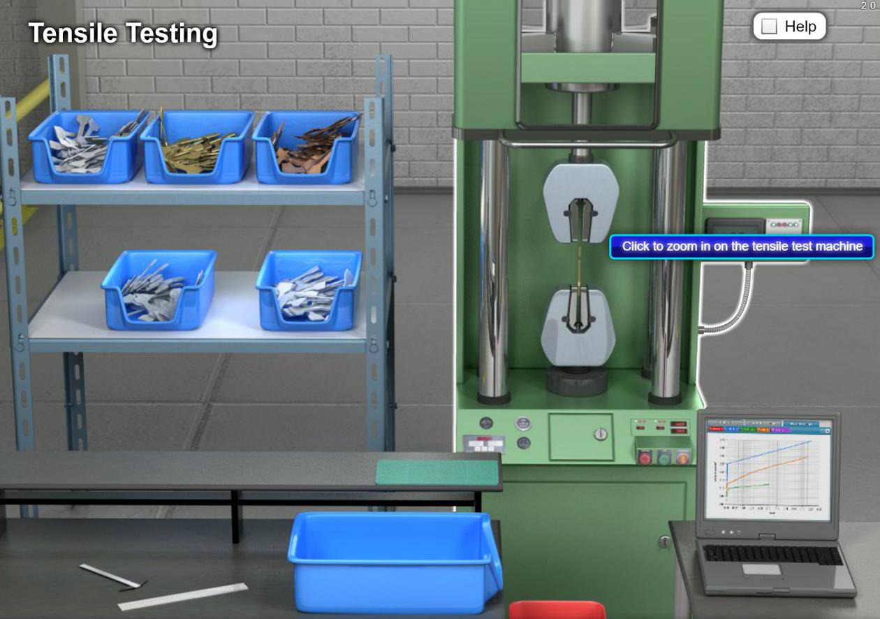 Manufacturing Skills STEM Software - Tensile Tester