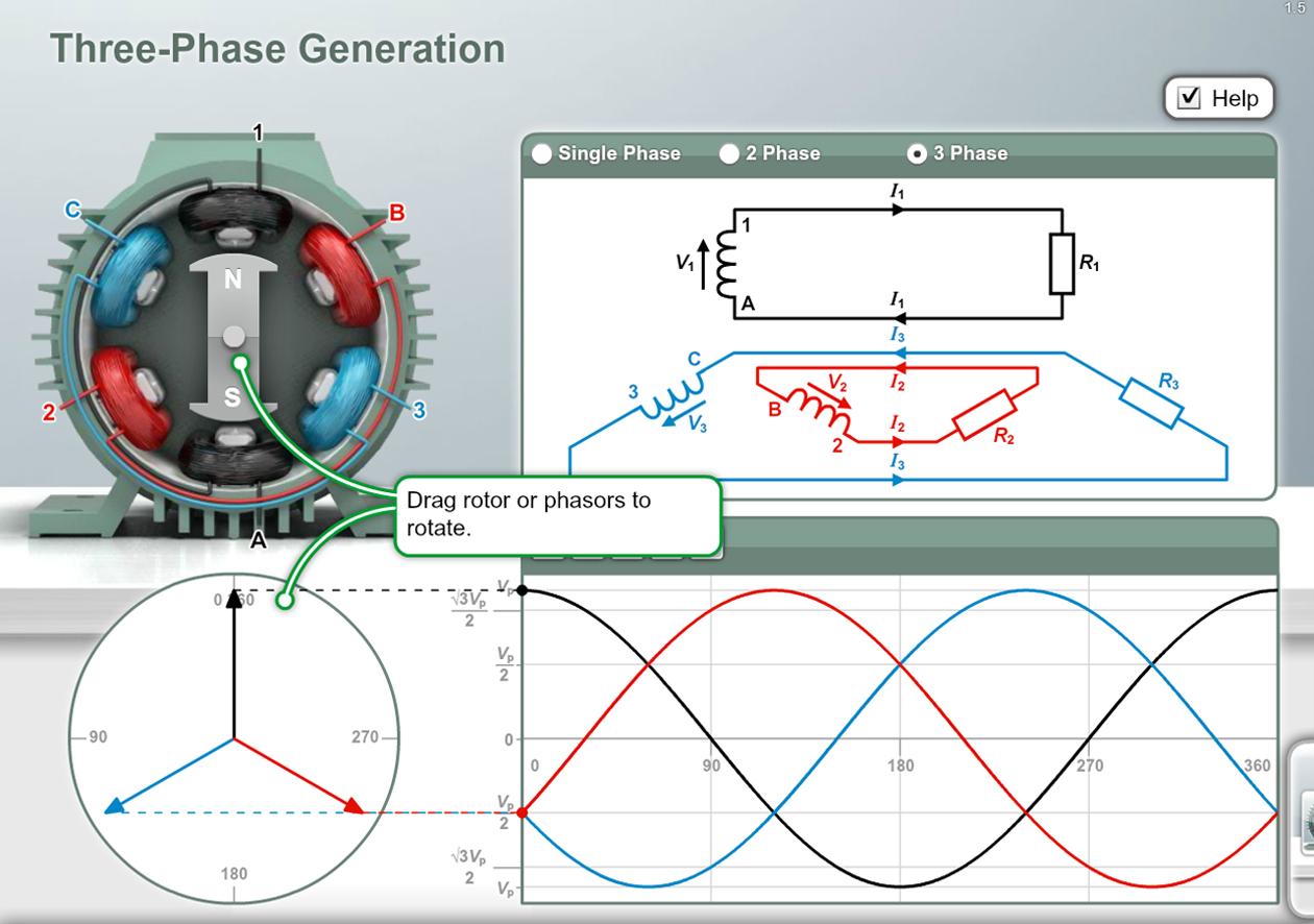 Electronics STEM Software - 3 Phase Explorer