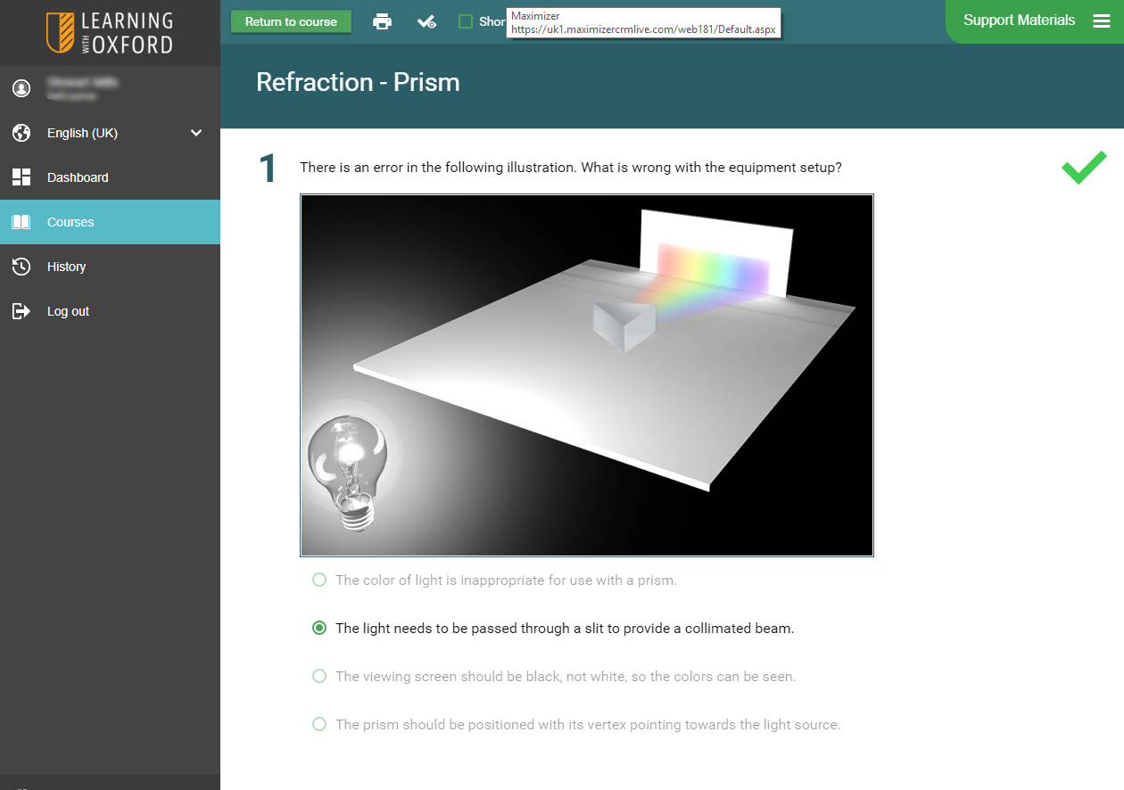 Physics Software - Light Rays