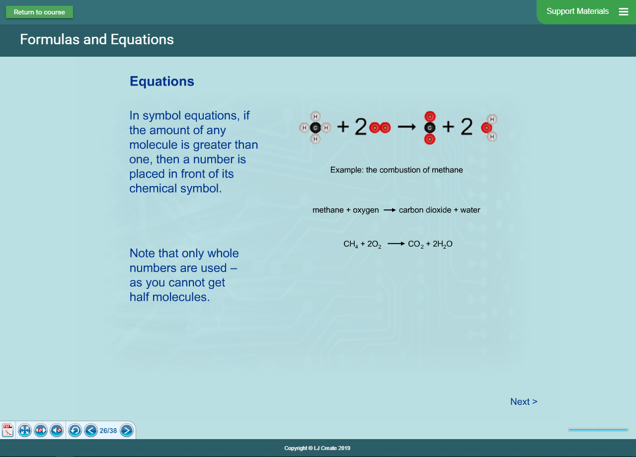 Chemistry Lessons - Equations Theory Presentation