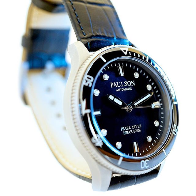 #italianleather #grade5titanium #automatic #divewatch Paulson Pearl Diver is one of the world's toughest, lightest, slimmest dive watches... Stay tuned as we launch soon on Indiegogo.com. |  Come check out our website www.paulsonwatches.com  #watches #divewatches #titaniumwatch #diverswatch #newwatch #paulsonwatches #watches #watch #watchfam #watchoftheday #watchesofinstagram #watchaddict #watchgeek #wristshot #wristporn #watchnerd #diverwatch #instawatch #diver #watchfamasia #miyota #miyota9015 #superluminova #lightweightwatch #diverswatchaddict #diverswatches