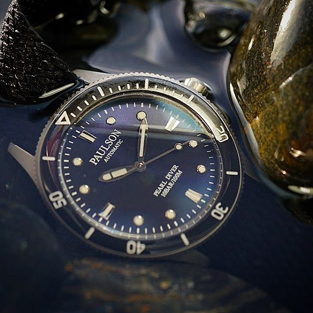 Waterproof.  The Paulson Pearl Diver is one of the world's toughest, lightest, slimmest dive watches... Stay tuned as we launch soon on Indiegogo.com. |  Come check out our website www.paulsonwatches.com  #watches #divewatches #titaniumwatch #diverswatch #newwatch #paulsonwatches #watches #watch #watchfam #watchoftheday #watchesofinstagram #watchaddict #watchgeek #wristshot #wristporn #watchnerd #diverwatch #instawatch #diver #watchfamasia #miyota #miyota9015 #superluminova #lightweightwatch #diverswatchaddict #diverswatches #genuineitalianleather #genuineleather #italianleather #crystalsapphire