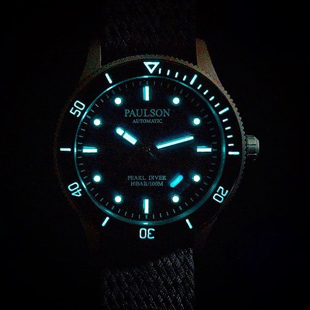 #superluminova  The Paulson Pearl Diver is one of the world's toughest, lightest, slimmest dive watches... Stay tuned as we launch soon on Indiegogo.com. |  Come check out our website www.paulsonwatches.com  #watches #divewatches #titaniumwatch #diverswatch #newwatch #paulsonwatches #watches #watch #watchfam #watchoftheday #watchesofinstagram #watchaddict #watchgeek #wristshot #wristporn #watchnerd #diverwatch #instawatch #diver #watchfamasia #miyota #miyota9015 #superluminova #lightweightwatch #diverswatchaddict #diverswatches #genuineitalianleather #genuineleather #italianleather #crystalsapphire