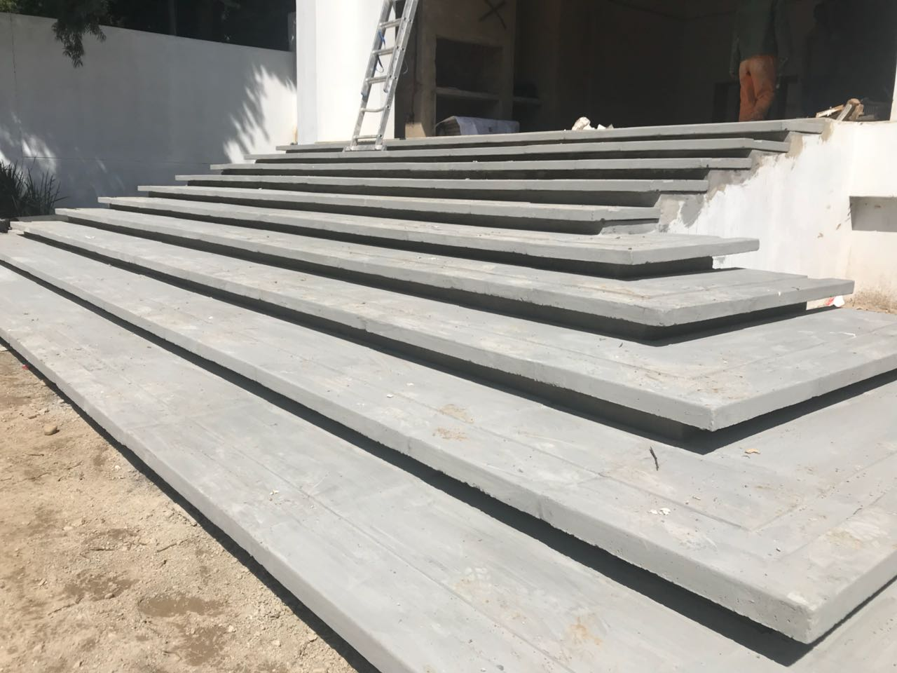 Installed Floating Stairs