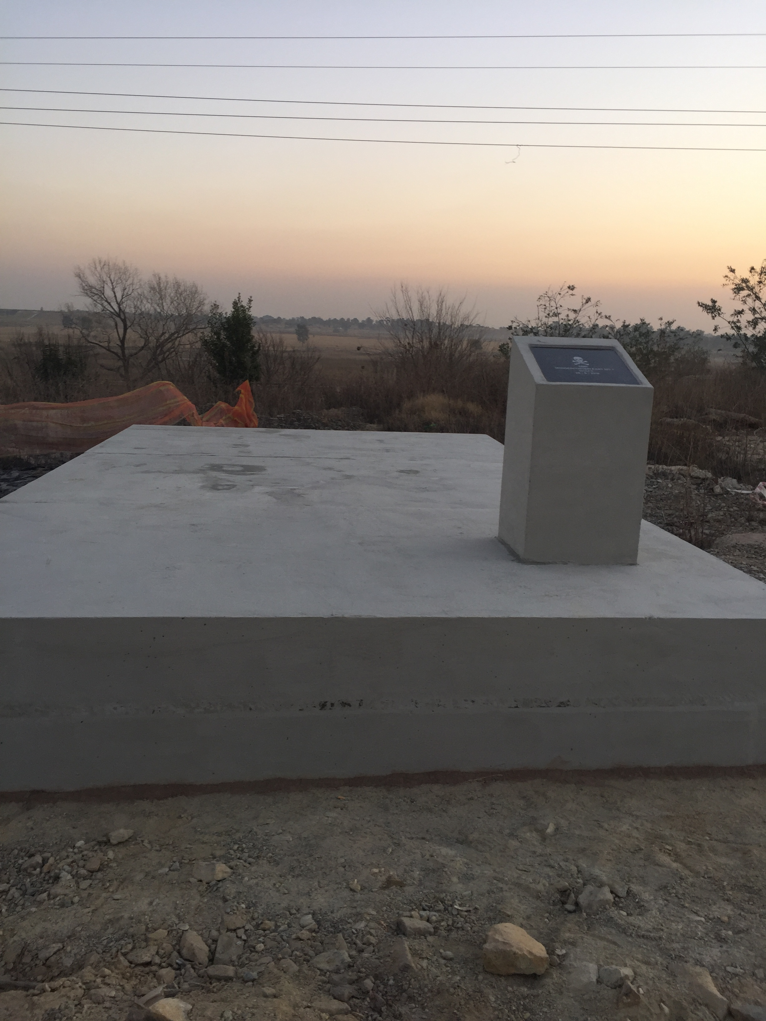 500 mm Thick Slab to secure Mine Shaft