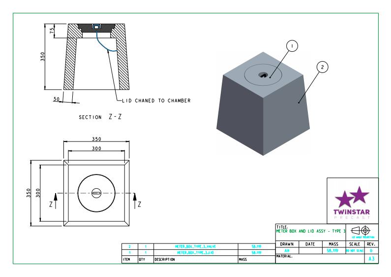 Valve or meter box & lid