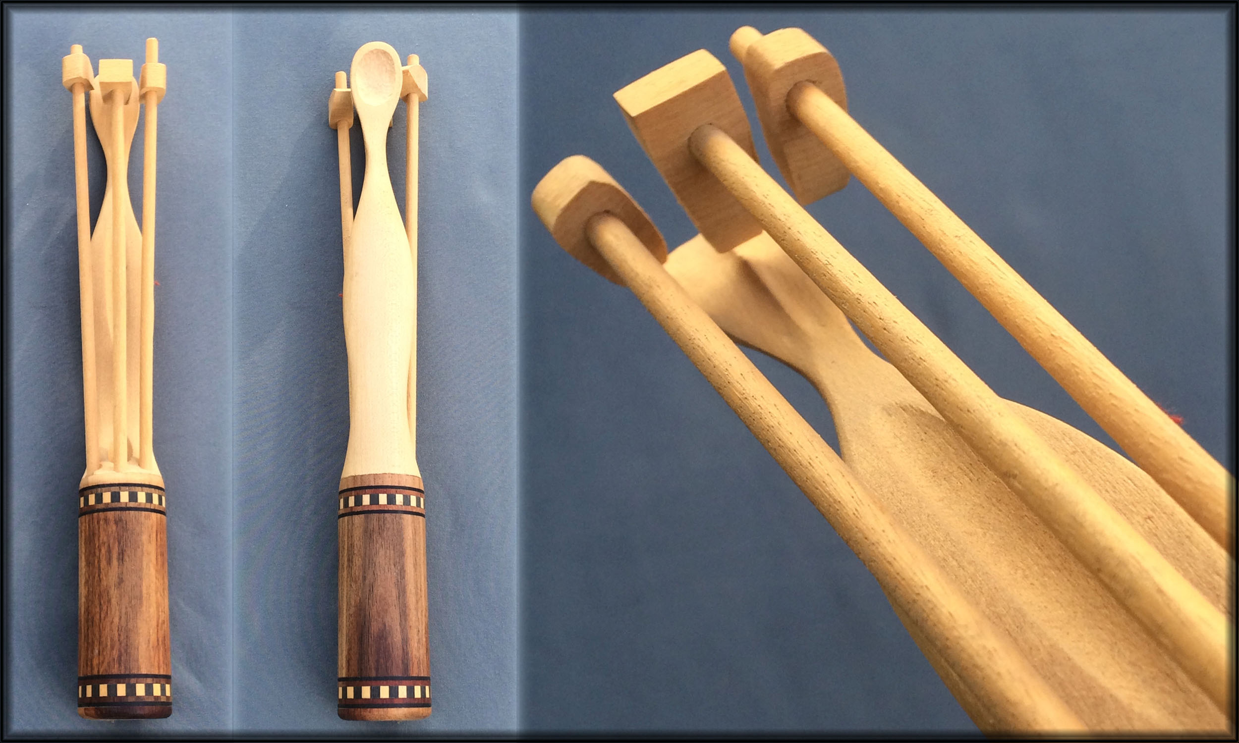Tripple , Tripple hammers on one spoon built from a pool cue. Thats when you have tried everything.
