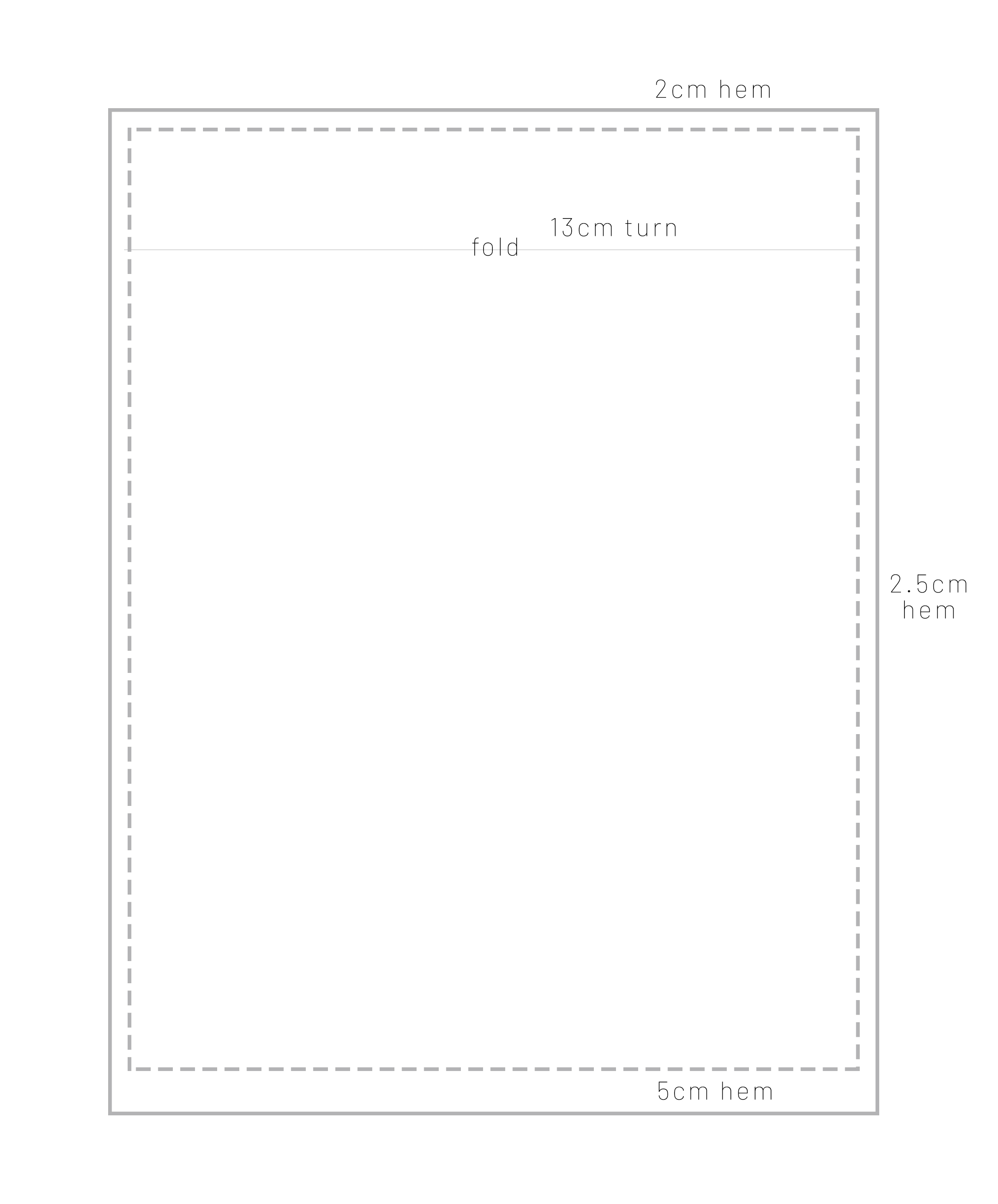 Flat sheet - This is a basic diagram on how to cut out flat sheets using the guide above for meterage.