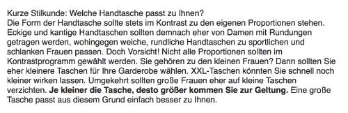 Beispiel: Otto, Keyword: Handtasche