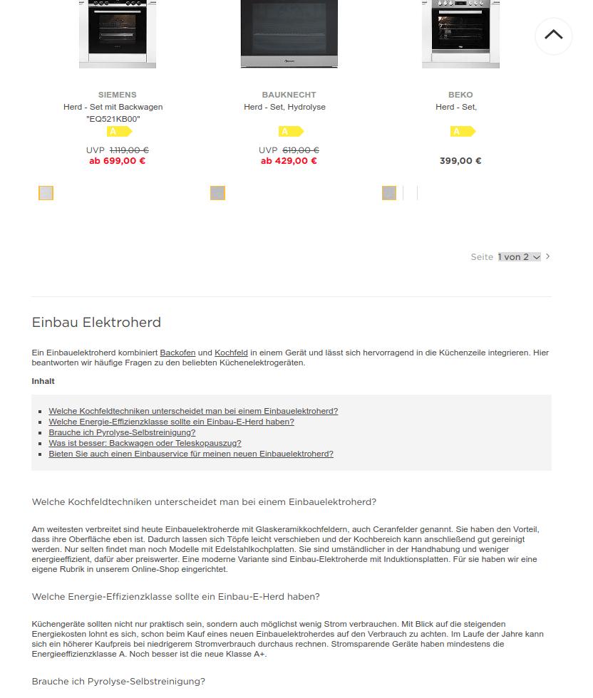 BAUR erleichtert seinen Kunden mit Hilfe von FAQ-Texten & Kaufratgebern die Kaufentscheidung