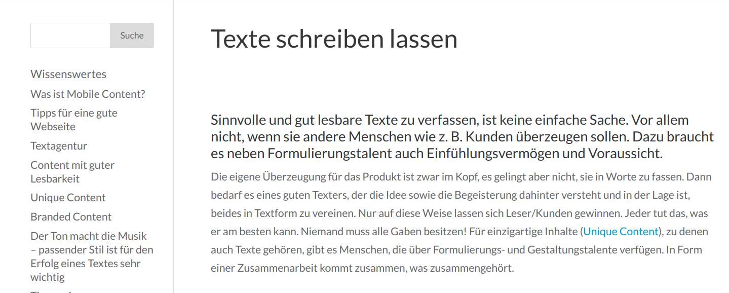 """So sieht ein inhaltsleerer Text zum Thema """"Texte schreiben lassen"""" aus (Ja - den gibt es wirklich im Netz!)"""