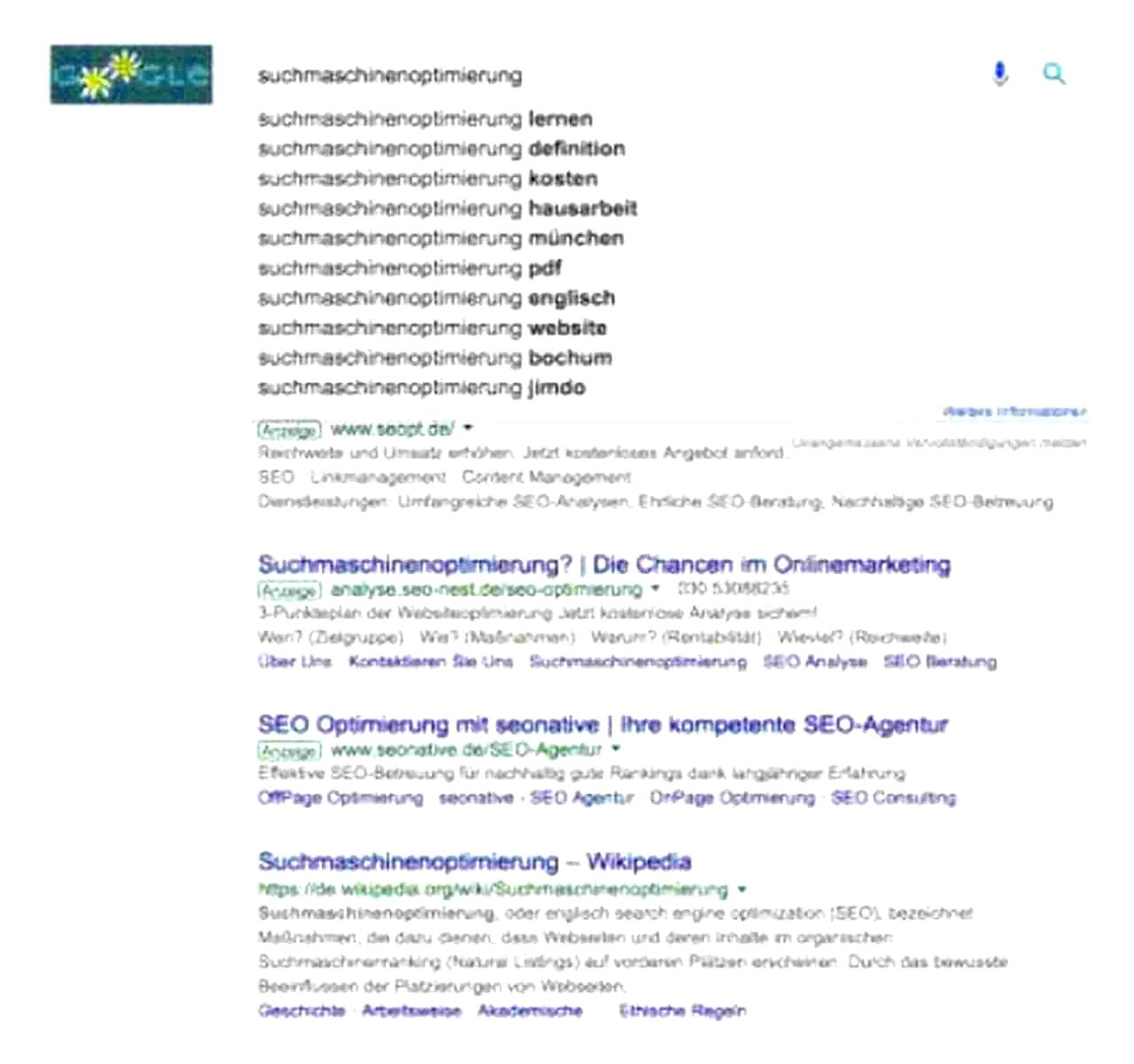 Google Suggest hilft bei der Keyword-Recherche