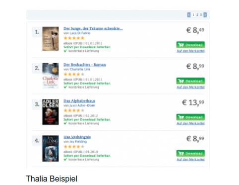 Thalia.de: gutes Beispiel