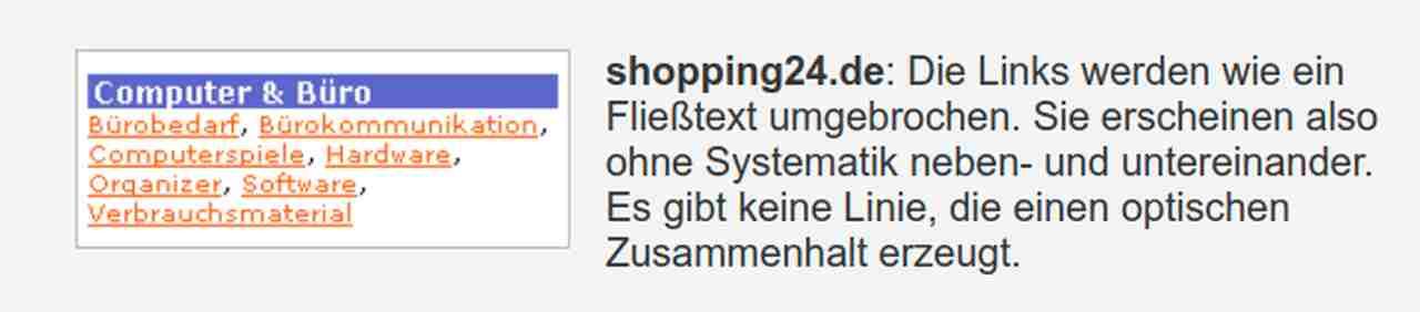 shopping24 schlechtes Beispiel