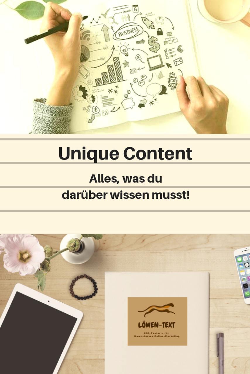Mehr zum Thema Unique Content erfährst du mit Klick aufs Bild.