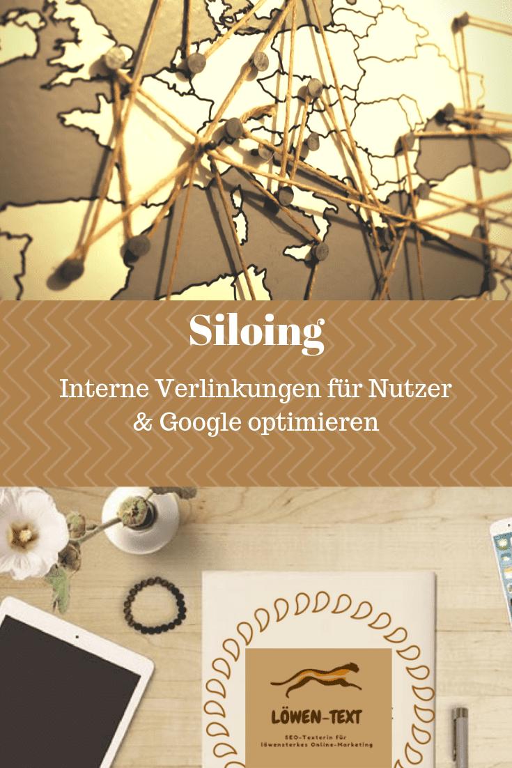"""Im Beitrag """"Siloing"""" erkläre ich dir, wie eine Website sinnvoll aufgebaut und verlinkt wird. Klick aufs Bild!"""