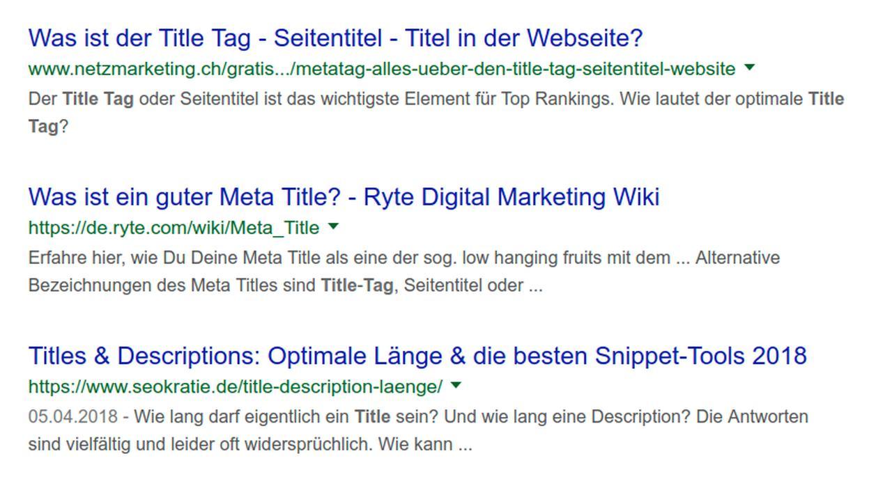 Der Title-TAG ist ein wichtiger Faktor für deine Klickrate.