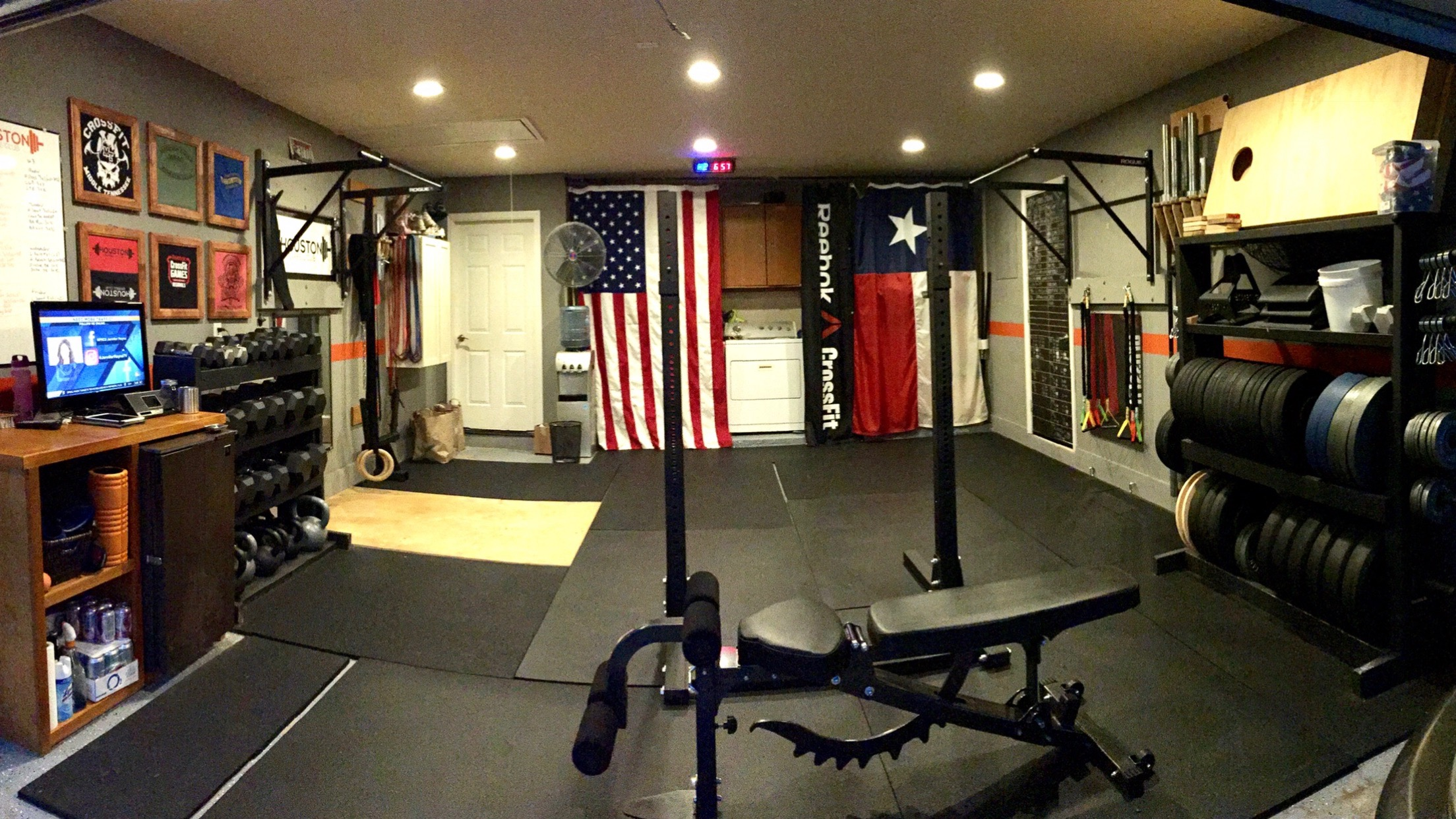 Garage gym makeover video diy