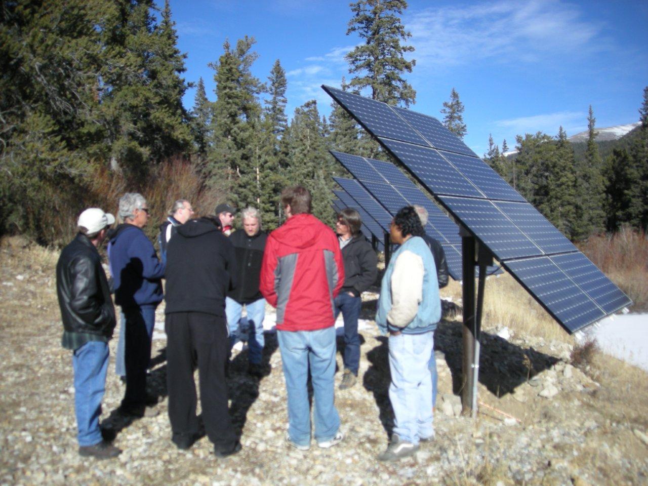 Mountain Off-Grid Solar Array