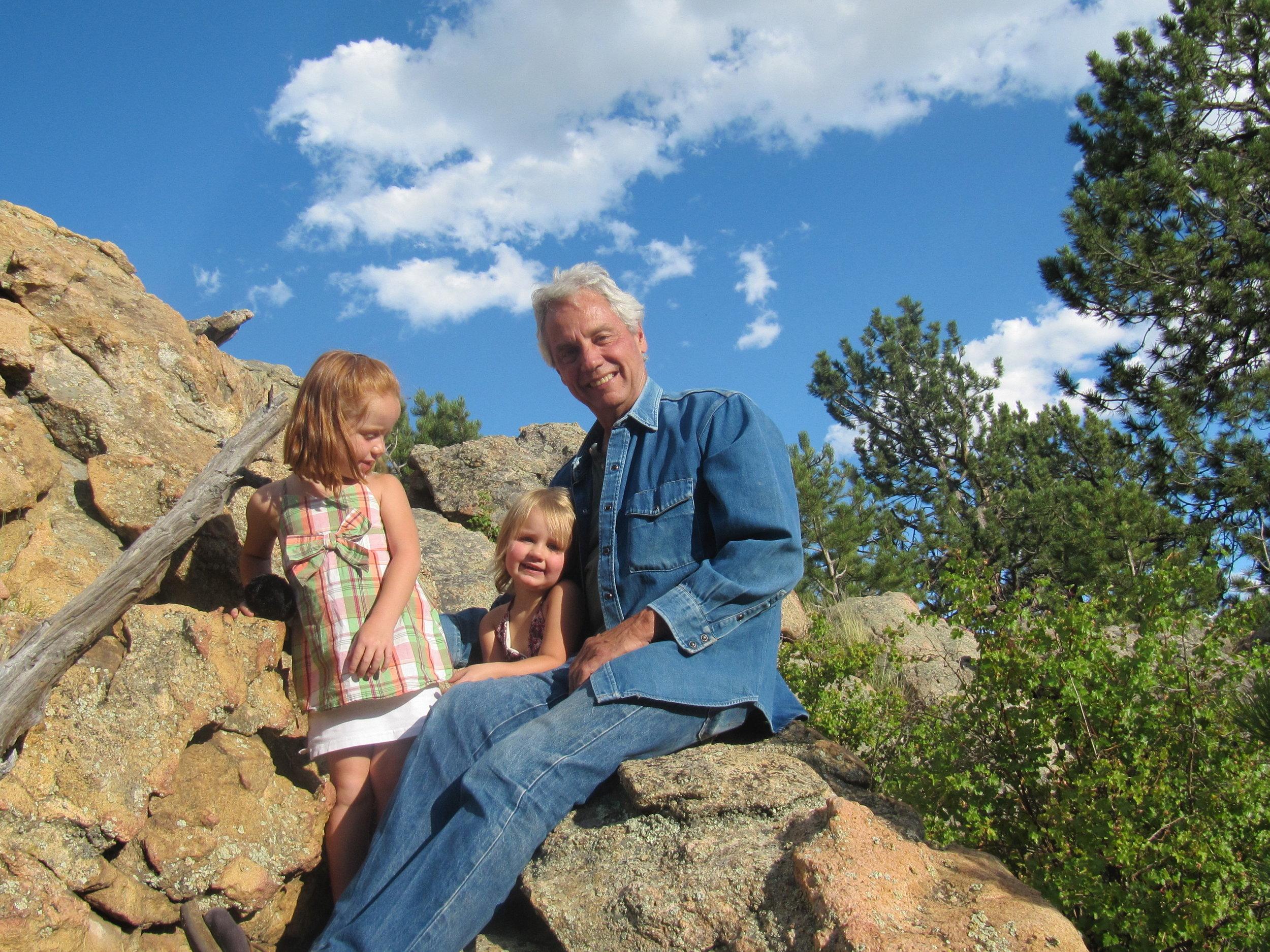 Larry and Grandchildren