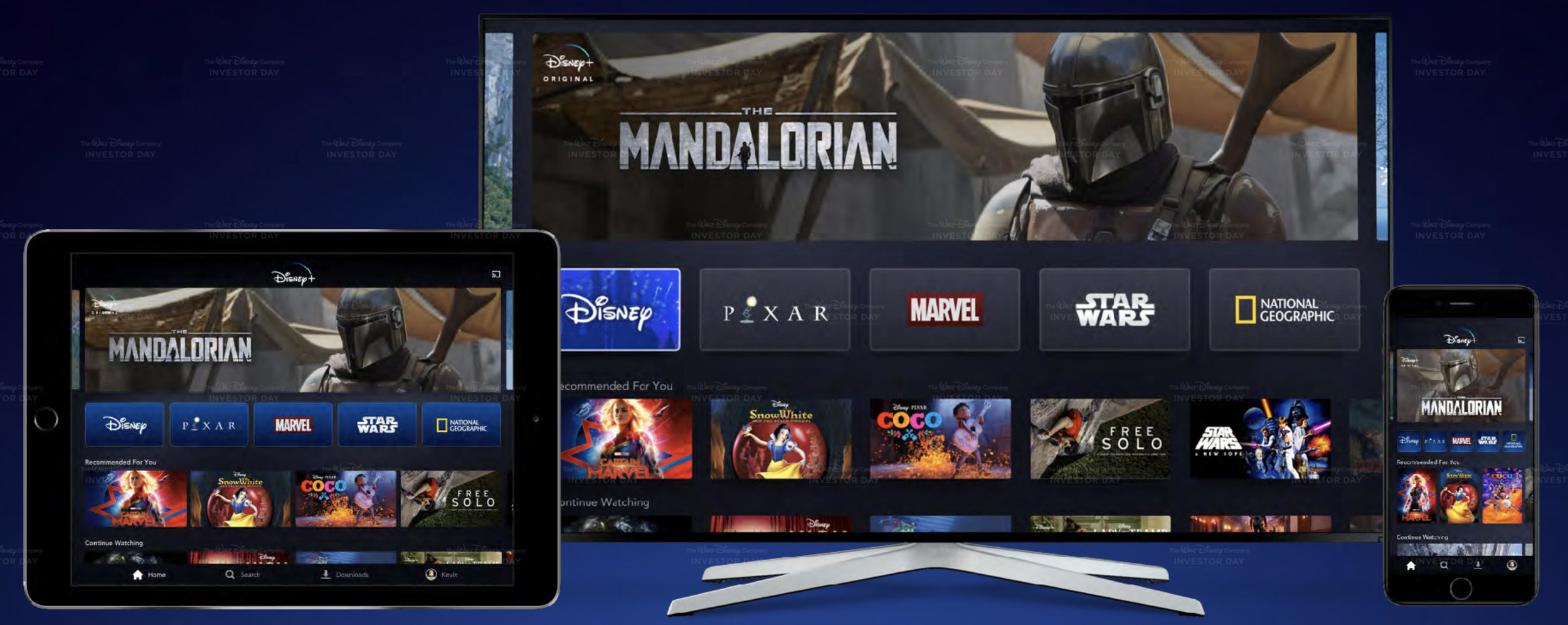 Disney Plus, launching in November in the US and next spring in Europe
