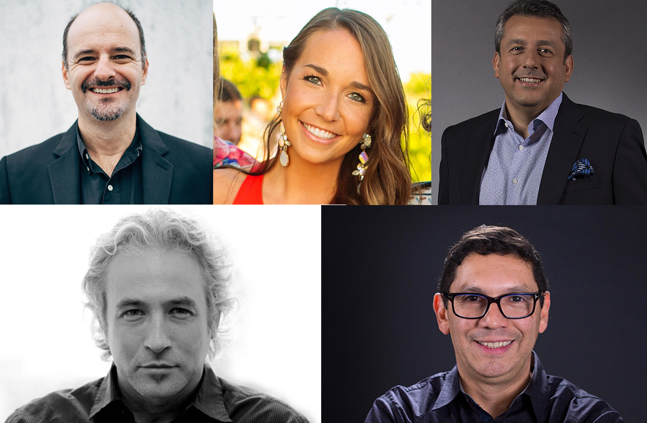 Clockwise from left- Isaac Mizrahi, Tanya De Pol, John Gallegos, Aldo Quevedo and Diego Yurkievich