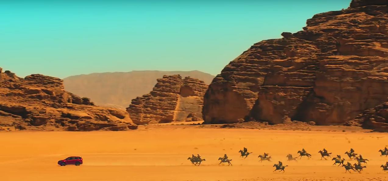 Wadi Rum, Jordan, setting for a TVC featuring Mahindra's XUV500
