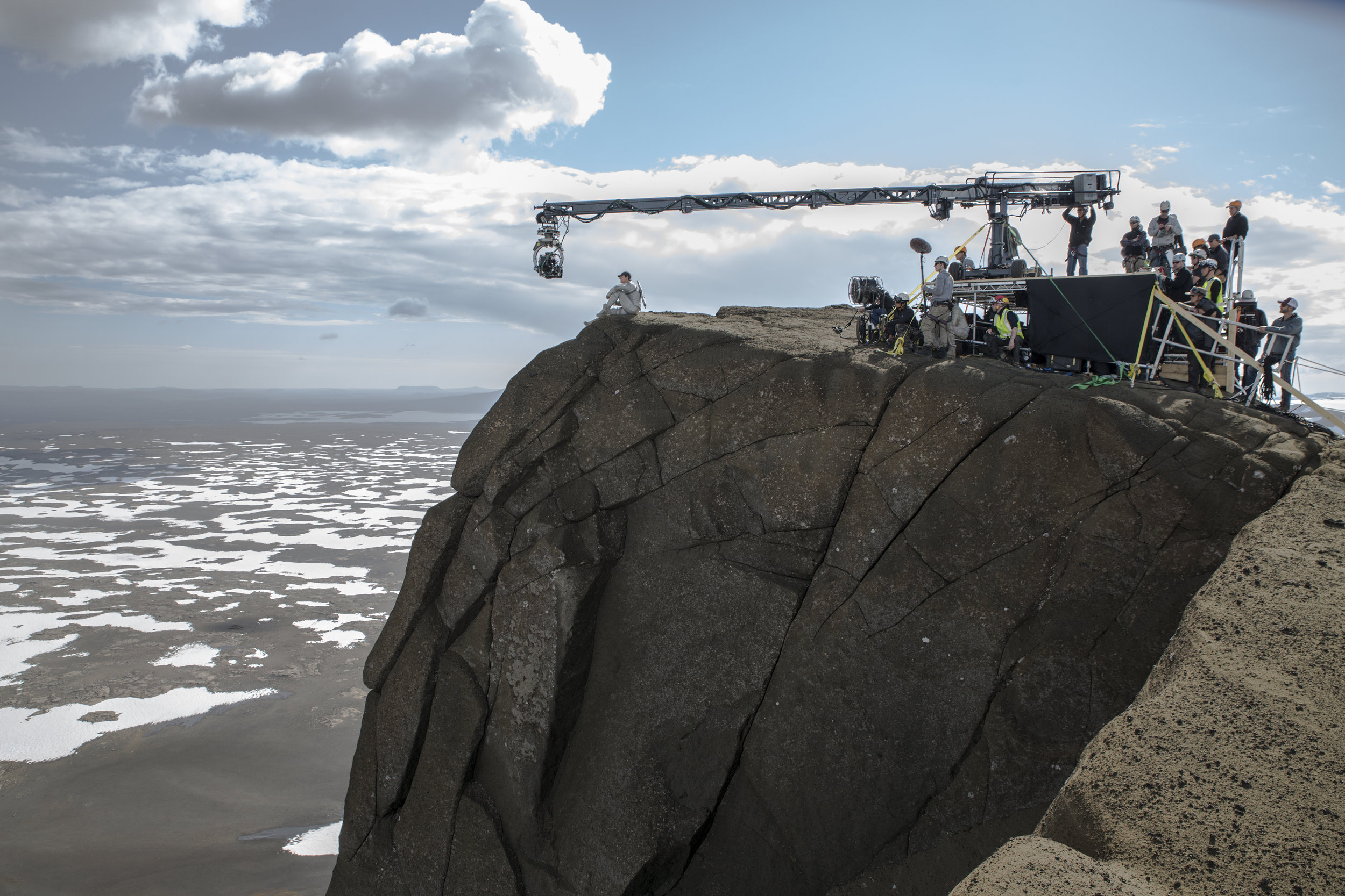 Tom Cruise, on location for the 2013 movie Oblivion, at the Jarlhettur mountain ridge, Iceland