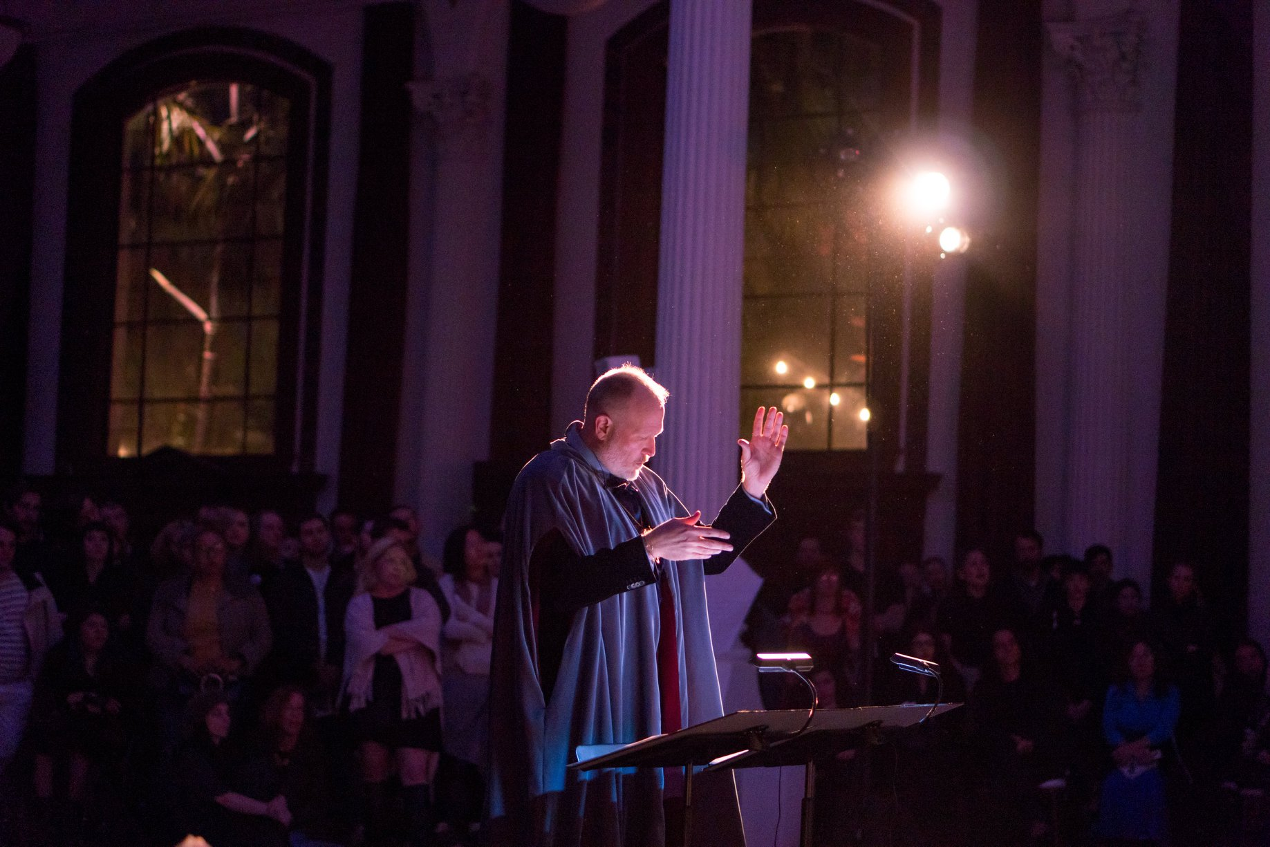 """Griffin conducts Opera Povera during """"Gifts of the Spirit"""""""