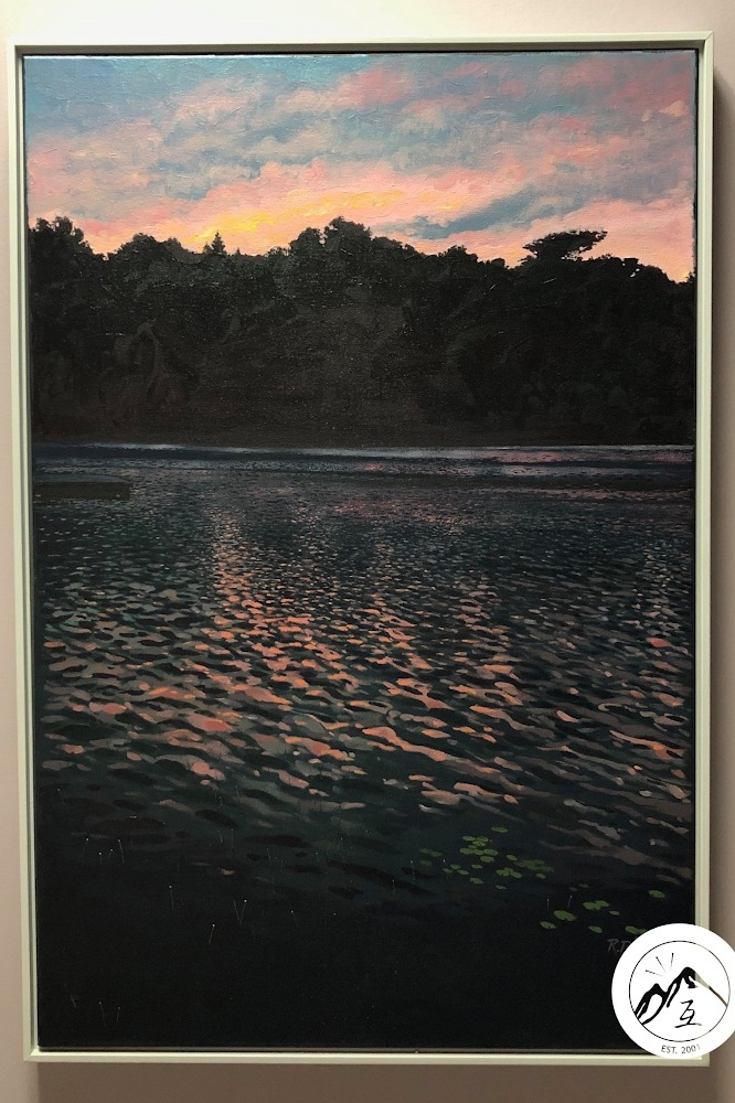 ROOM 2 - Painting by local artist Ron Peters.We chose this painting because it resonated well with our clinic setting - warm, still, calm, and yet, energizing and dynamic, It you look closely at the textures of the water and the sky, you can sense the duality of stillness and movement… just likes our treatments here at the clinic!